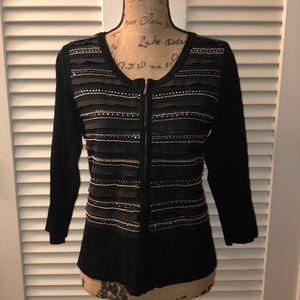 WH BM Embellished Knit Cardigan